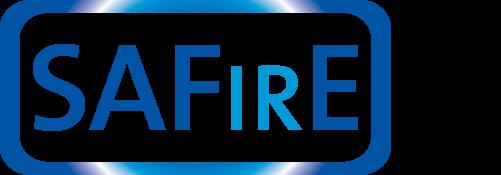 Saint-Gobain SAFirE transparent armor logo