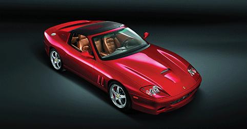 Ferrari SuperAmerica with electromic glass roof