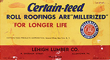 Early CertainTeed roofing ad